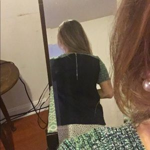 J. Crew Tops - J. Crew blouse, tweed sleeves